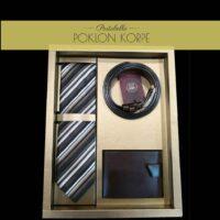 Set kravata kaiš novčanik braon