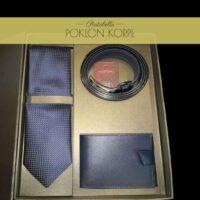 Set kravata kaiš novčanik plavi