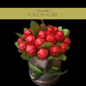 """Poklon set """"Ljubavni buket"""" od čokoladnih ruža"""